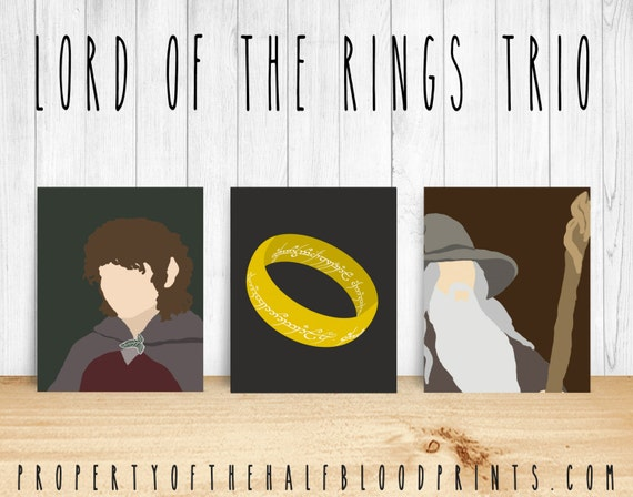 Lord Of The Rings Minimalist Set Of 3 Diy By Thehalfbloodprints