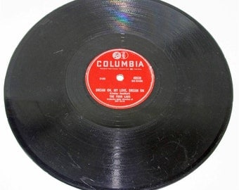 """The Four Lads Columbia 40539 78rpm Moments to Remember / Dream on my Love Dream on 10"""""""