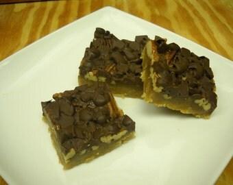 Vegan Chocolate Chip Pecan Bars - 1 Dozen