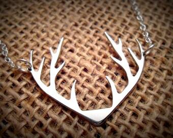 Antler Necklace - Deer Antler Necklace - Antler Pendant