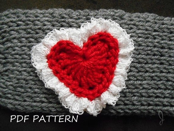 Free Crochet Pattern Ruffle Edging : Items similar to Crochet heart pattern with lace ruffle ...