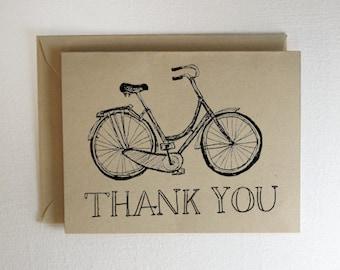 Bicycle Thank You Card Bike