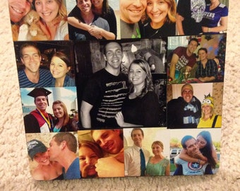 Custom collage photo frame