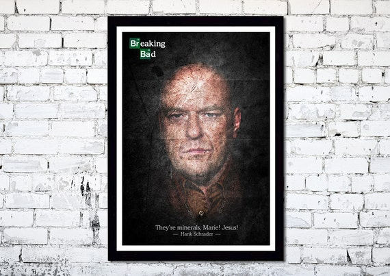 Breaking Bad Hank Schrader A3 poster print