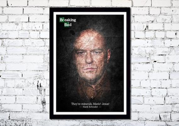 Breaking Bad Hank Schrader A3 poster print