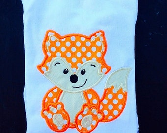 Fox Appliqued Shirt/Onesie - Embroidered, Personalized, Monogrammed
