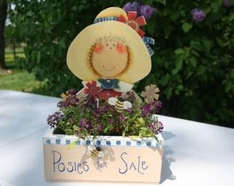 Posies for Sale, cute little flower box