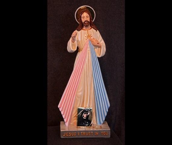 "Divine Mercy 22"" Jesus Catholic Christian Religious Faustina Statue"