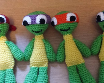 Teenage Mutant Ninja Turtle Amigurumi Crochet Dolls
