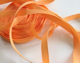 Grosgrain RIBBON - 3/8 Inch x 5 Yards - Melon Solid