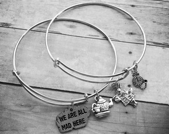 Alice In Wonderland Charm Bracelet Set
