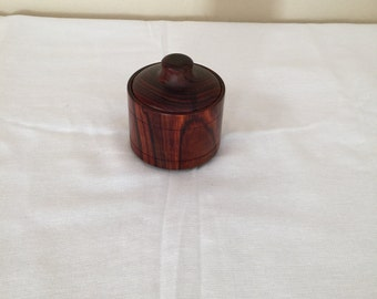 Exotic Cocobolo Jewelry Box shaped like a Barrel/or Keepsake box