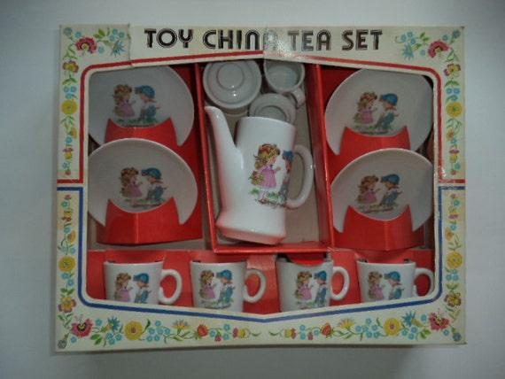 Toy Tea Sets For Boys : Vintage s toy china tea set pcs japan