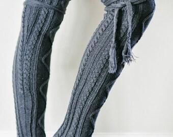 Zoey Boot socks in Dark Grey.