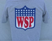 widespread panic t shirt in sports grey. WSp NFL change over. Are you ready for some Panic, on the back.