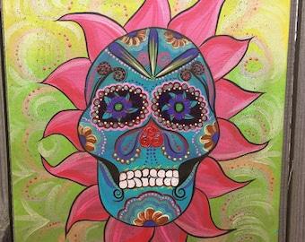 Sugar Skull 16x20