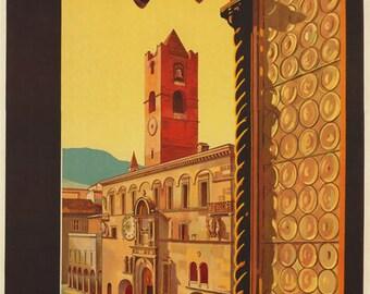 TV74 Vintage 1932 Ascoli Piceno Italian Italy Travel Tourism Poster Re-Print Wall Decor A3/A4