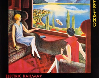 TX99 Vintage Montreux Bernese Swiss Railway Train Travel Tourism Poster Re-Print Wall Decor A2/A3/A4