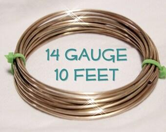 14 gauge Round Bare Copper Wire 10 feet