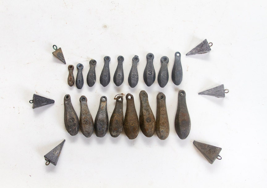 Antique fishing sinkers weights fishing weights lead sinkers for Fishing sinker molds