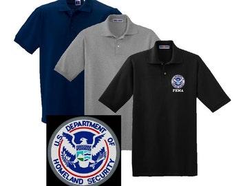 Dept. of Homeland Security FEMA Embroidered Polo Shirt  #283