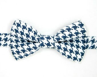 Navy houndstooth bow tie ,Wedding bow tie,Party bow tie for Men ,Toddlers ,Boys,Baby