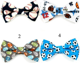 Baseball bow tie, Soccer bow tie, Football bow tie, Sport ball bow tie for Men,Toddlers ,Boys,baby