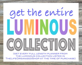 Parent Planner, Mom Planner, Dad Planner, Household Binder, Family Plan - The Entire Luminous Collection and Save Big!
