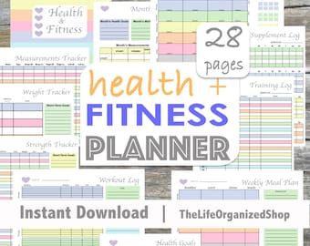 Fitness Planner / Health Planner / Fitness Journal / Weekly Fitness Planner - From the Luminous Collection