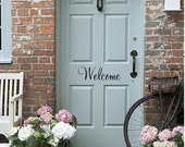 Welcome Decal - Door Decal Welcome Vinyl Decal