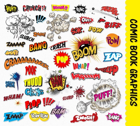 Comic Book Clip Art Graphics Pop Art Clipart Scrapbook