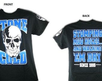 Stone Cold Steve Austin Stump A Mud Hole Black Short Sleeve Shirt