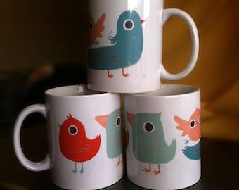 Bird Illustration Mug