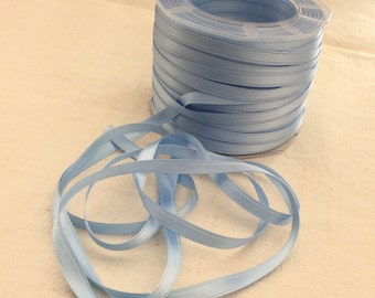 """Double faced satin ribbon light blue 10 meters(10.94yds) size 6mm(1/4"""")"""