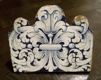 Old Portuguese tiled wall mounted