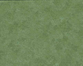 Mid Green Makower Spraytime Cotton Fabric