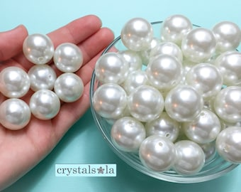 Loose Pearl Beads 100pc - 20mm - Item PW603