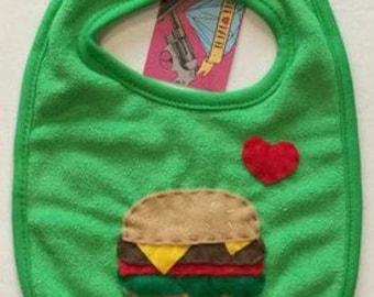 Burger Lover Baby Bib