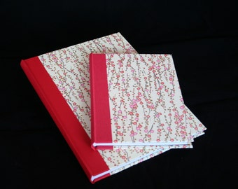 A5 portrait sketch book / note book / journal bound in Japanese Chiyogami / washi paper