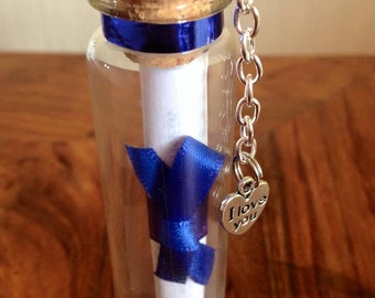 Beautiful message in a bottle gift