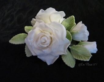 Handmade Gumpaste Roses for Wedding cakes