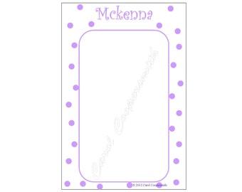 Purple Poke-A-Dot Notepad. Personalized - BUY 3 GET 1 FREE!!