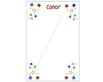 All Stars Notepad For Boys. Personalized - FREE Shipping When You Order Any 4 or More Notepads!