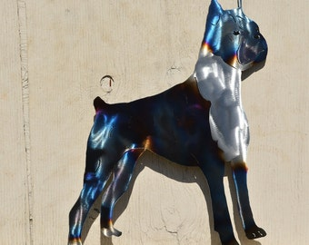 American staffordshire terrier, pitt bull metal wall hanging.  wall hanging unique gift