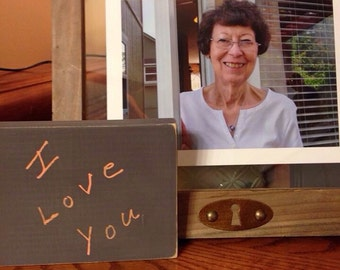 "3.5"" x 5"" custom handwriting sign your loved one's handwriting painted on a wooden sign"