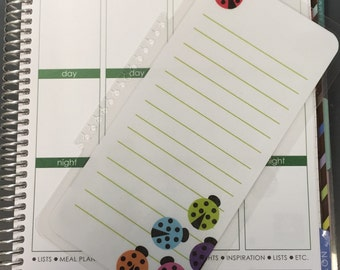 Cute Ladybug To Do Laminated Dashboard Insert for Erin Condren Life Planner/Plum Paper Planner/Happy Planner