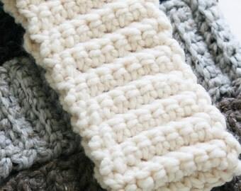 Chunky Knit Headband, Ear Warmer, Crochet Ear Warmer