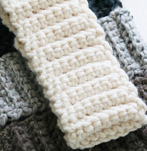 Chunky Knit Ear Warmer Pattern : Chunky Knit Headband Ear Warmer Crochet Ear Warmer