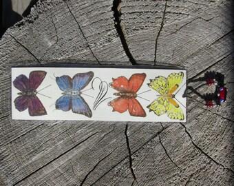 Watercolor Butterflies Bookmark