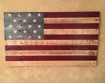 Reclaimed Wooden American Flag - Handmade Wooden American Flag - Wood American Flag - Reclaimed Wood American Flag